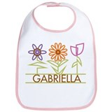 Gabriella with cute flowers Bib