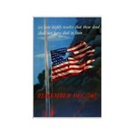 Proud American Flag Rectangle Magnet