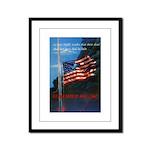 Proud American Flag Framed Panel Print