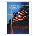 Proud American Flag Small Poster