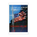 Proud American Flag Mini Poster Print