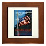 Proud American Flag Framed Tile