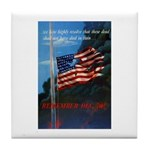 Proud American Flag Tile Coaster
