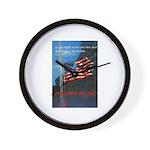 Proud American Flag Wall Clock