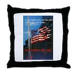 Proud American Flag Throw Pillow