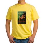 Proud American Flag Yellow T-Shirt