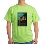 Proud American Flag Green T-Shirt