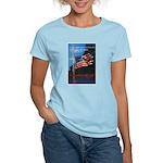 Proud American Flag Women's Pink T-Shirt
