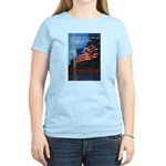 Proud American Flag (Front) Women's Pink T-Shirt