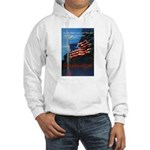 Proud American Flag (Front) Hooded Sweatshirt