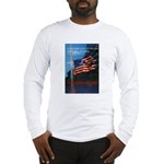 Proud American Flag (Front) Long Sleeve T-Shirt