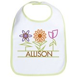 Allison with cute flowers Bib