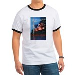 Proud American Flag (Front) Ringer T
