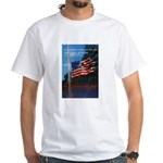 Proud American Flag (Front) White T-Shirt