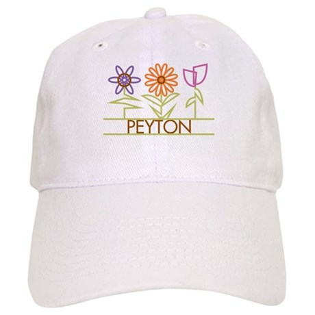 Peyton with cute flowers Cap