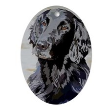 Flat Coated Retriever Ornament (Oval)