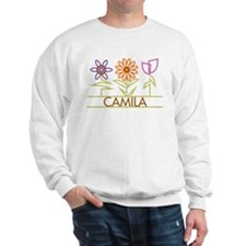 Camila with cute flowers Sweatshirt