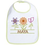 Maya with cute flowers Bib
