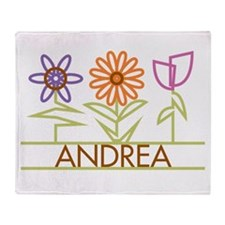 Andrea with cute flowers Throw Blanket