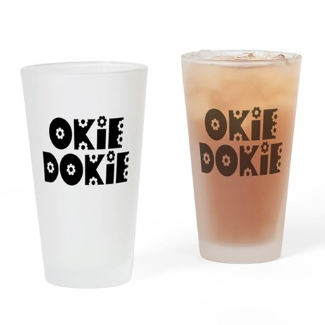 OkieDokie_Do_Black Drinking Glass