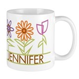 Jennifer with cute flowers Mug