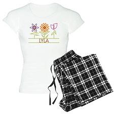 Lyla with cute flowers Pajamas