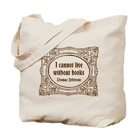 Thomas Jefferson (brown) Tote Bag