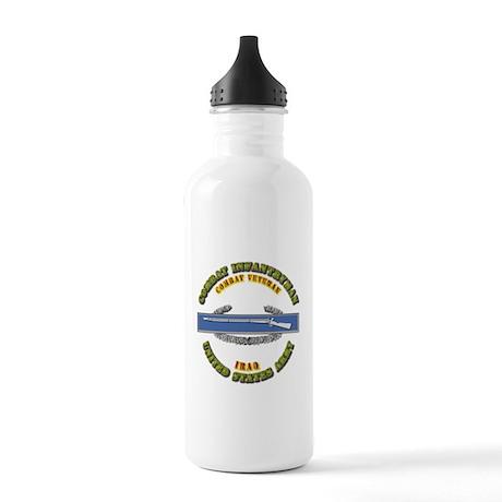 Army - CIB - 1st Award - Iraq Stainless Water Bott