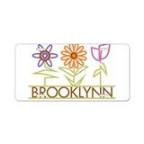 Brooklynn with cute flowers Aluminum License Plate