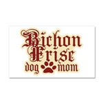 Bichon Frise Mom Car Magnet 20 x 12