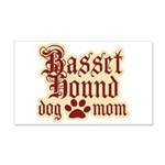 Basset Hound Mom 22x14 Wall Peel