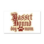 Basset Hound Mom Car Magnet 20 x 12