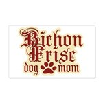 Bichon Frise Mom 22x14 Wall Peel