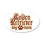 Golden Retriever Mom 38.5 x 24.5 Oval Wall Peel
