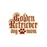 Golden Retriever Mom 38.5 x 24.5 Wall Peel