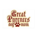 Great Pyrenees Mom 38.5 x 24.5 Wall Peel