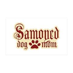 Samoyed Mom 38.5 x 24.5 Wall Peel
