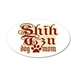 Shih Tzu Mom 38.5 x 24.5 Oval Wall Peel