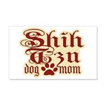 Shih Tzu Mom 22x14 Wall Peel