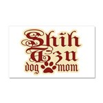 Shih Tzu Mom Car Magnet 20 x 12