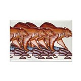 BEAR PACK Rectangle Magnet
