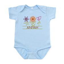 Aniyah with cute flowers Infant Bodysuit
