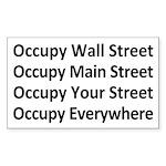 Occupy Every Street Sticker (Rectangle)