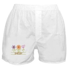 Shelby with cute flowers Boxer Shorts