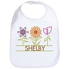 Shelby with cute flowers Bib