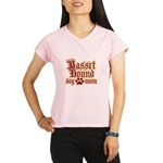 Basset Hound Mom Performance Dry T-Shirt