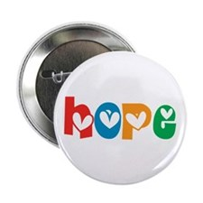 """Hope_4Color_1 2.25"""" Button (100 pack)"""
