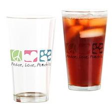 Peace, Love, Pomchis Drinking Glass