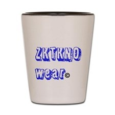 zktkno wear blue Shot Glass