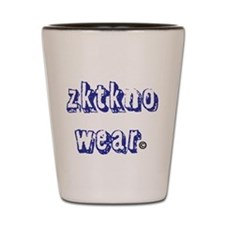 zktkno wear blue2 Shot Glass